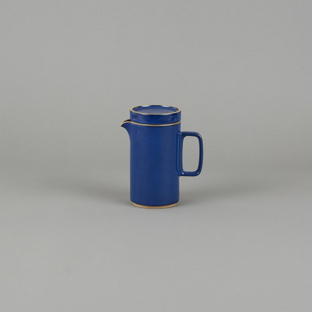 HPK037 - Tea Pot Tall with Stainless Strainer Gloss Blue - tortoise general store