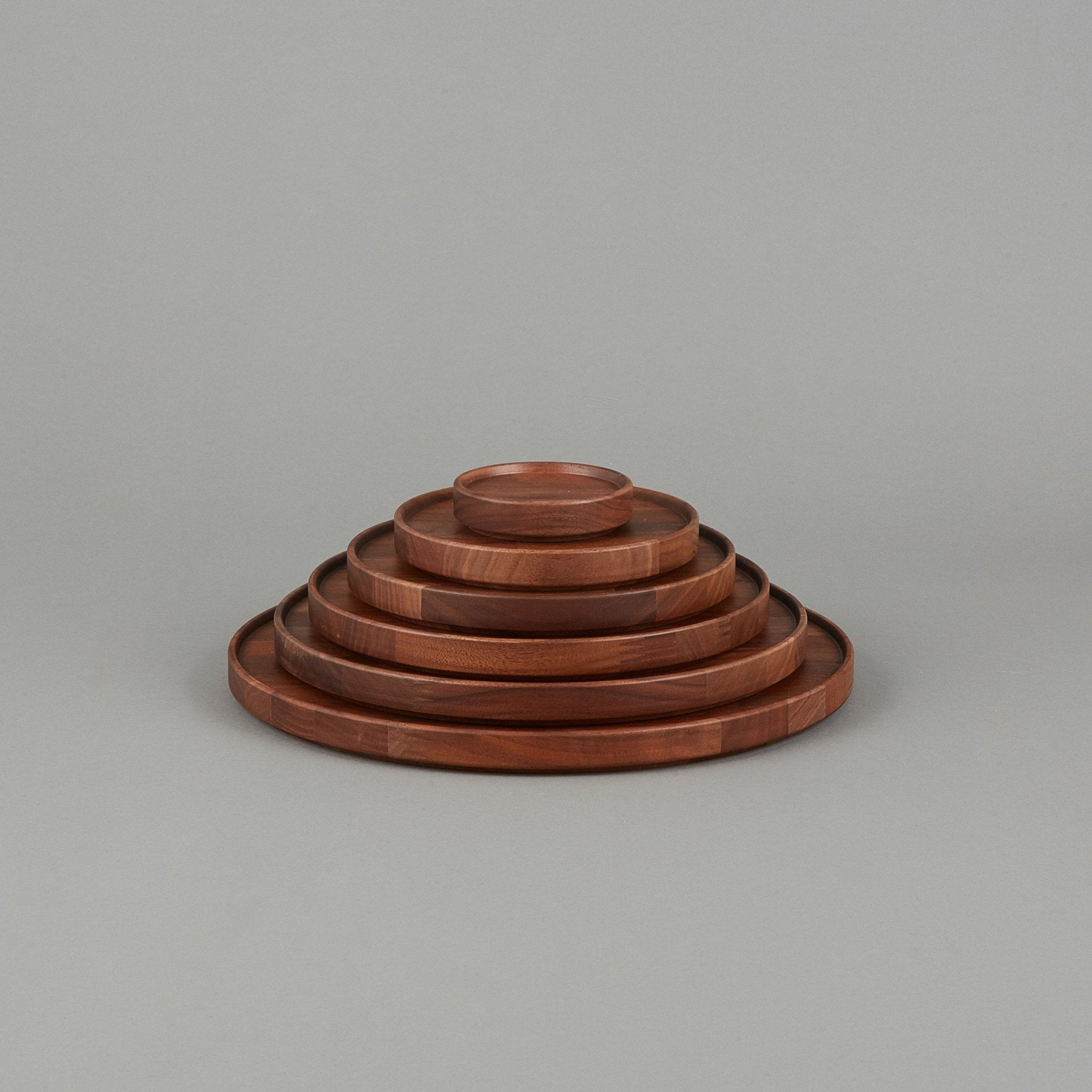 "HPWN025 - Tray / Lid Walnut ø 8.5/8"" - tortoise general store"