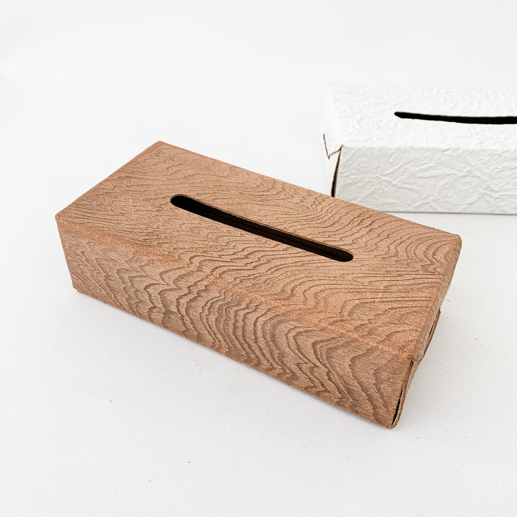 Irose Plywood Tissue Case - tortoise general store