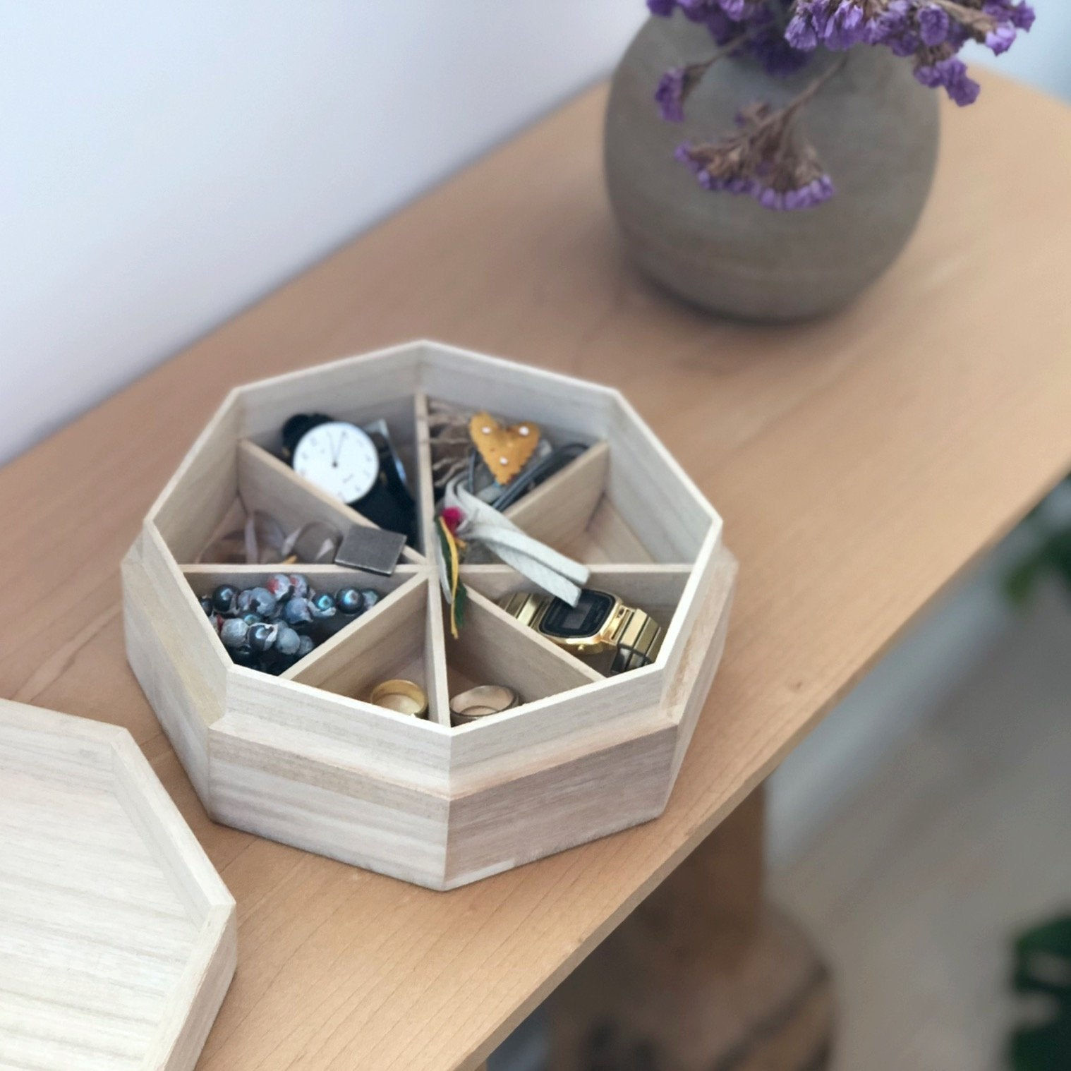 Kiri wood organizer (Medium) - tortoise general store