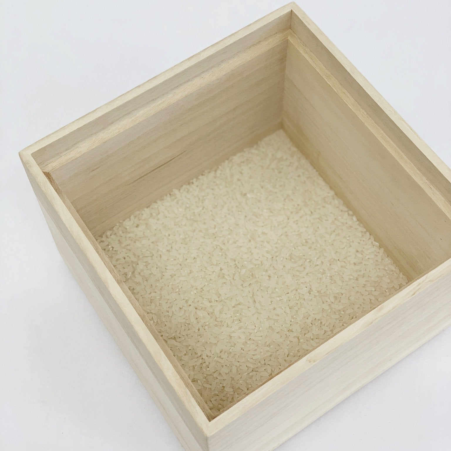 Kiri Wood Stackable Rice Container 3kg - tortoise general store