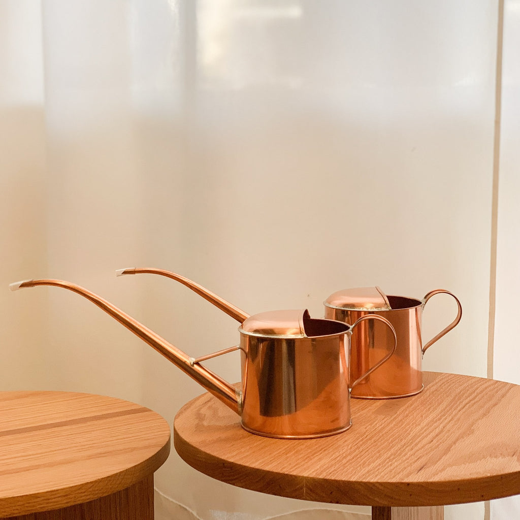 Beautiful copper watering cans made in Japan by family-run business NEGISHI