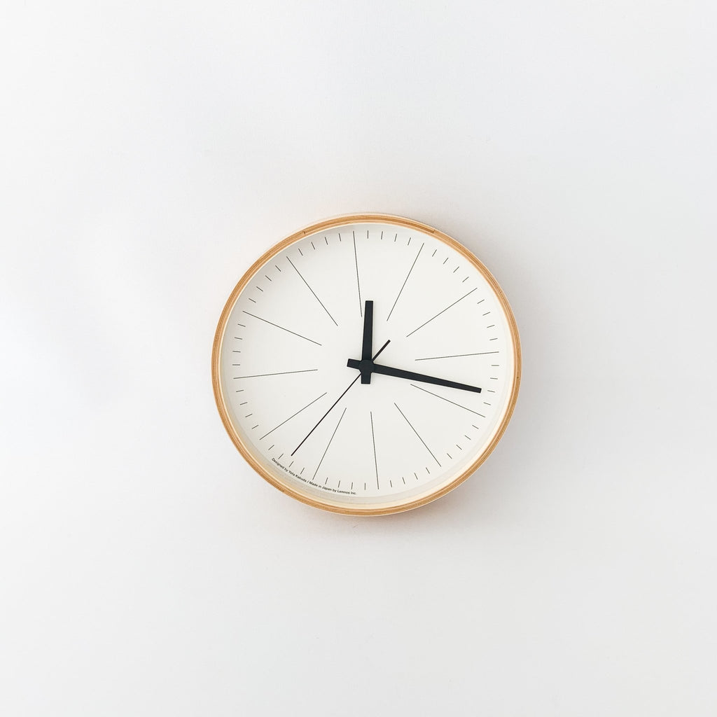 Plywood Lines Clock (YK18-17) - tortoise general store