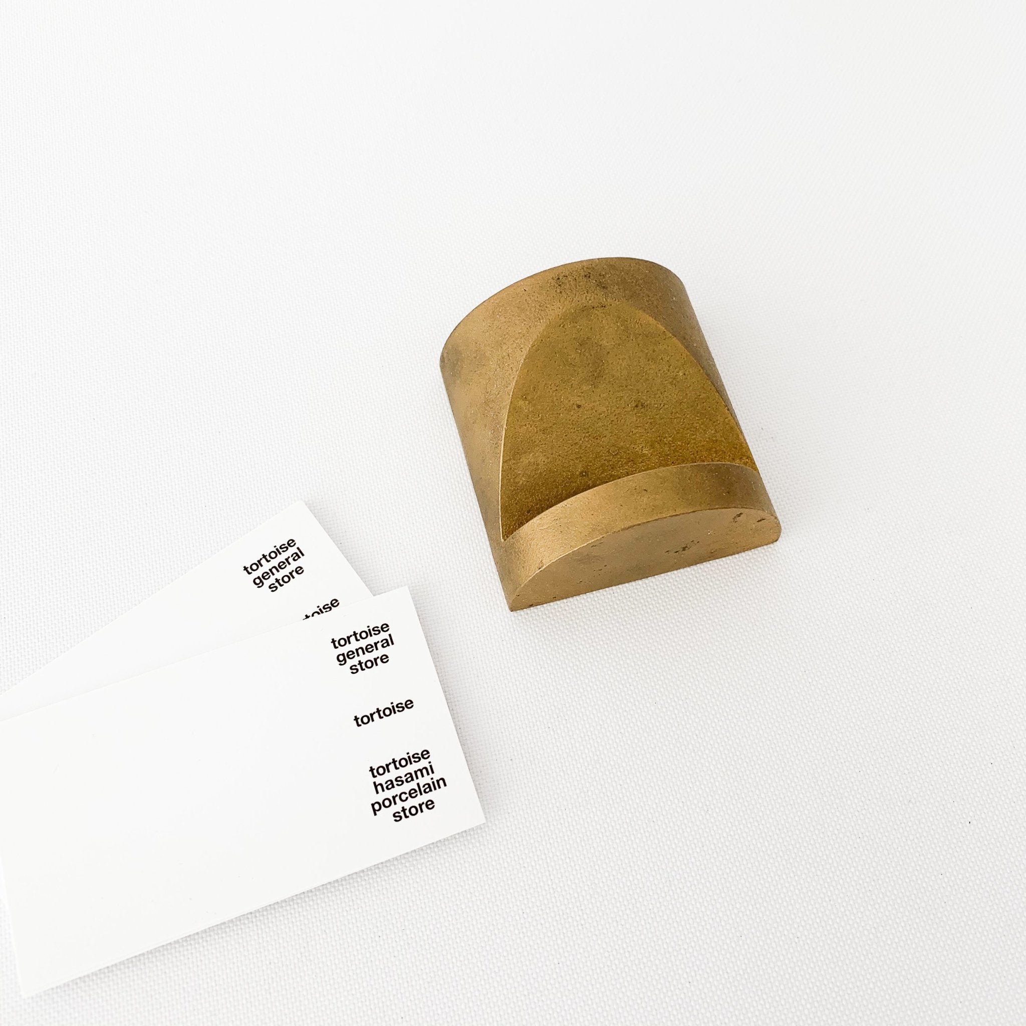 S/N Brass Card Holder (SN017) - tortoise general store