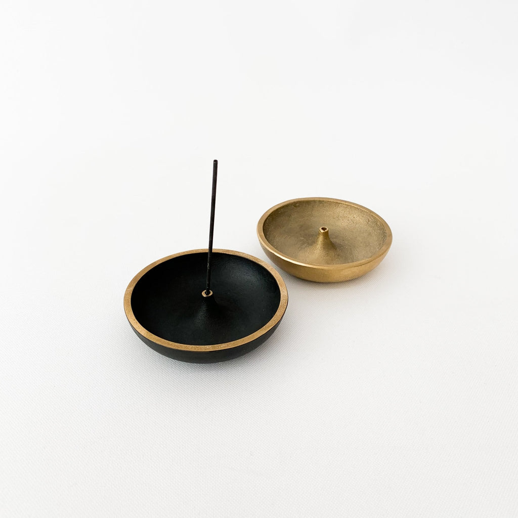 S/N Incense Holder in Brass (SN007) and Black Finish (SN016) - tortoise general store