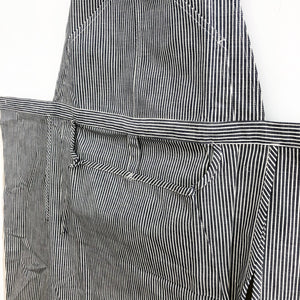 Striped Bibbed Apron by Hakui (Hakui 6869-1) - tortoise general store