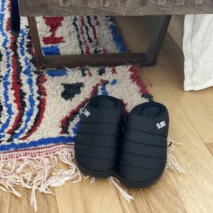Subu Slippers Black and Red - tortoise general store