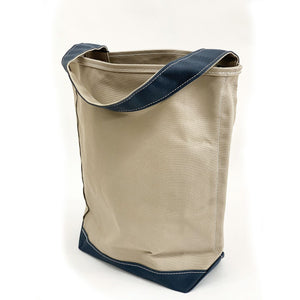 Tembea Canvas One Handle Bag - tortoise general store, gray smokey blue
