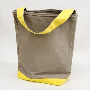 Tembea Canvas One Handle Bag - tortoise general store, gray yellow