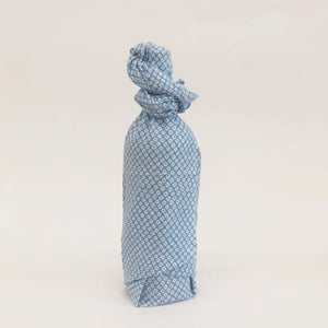 Tenugui fabric as bottle wrapping - hostess gift