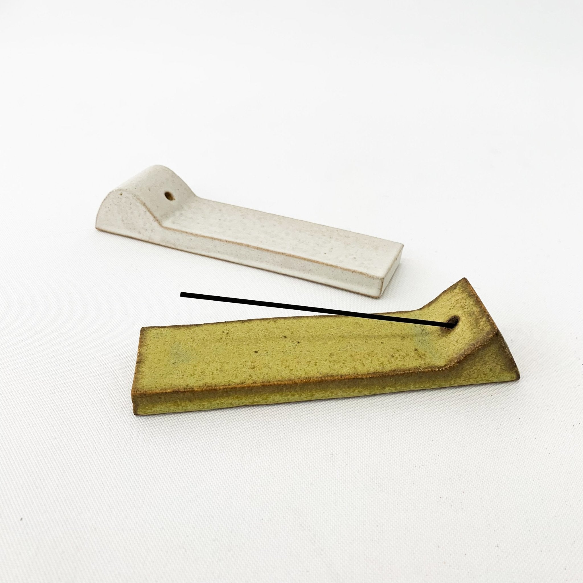 Tomoro Incense Holder Yellow Triangle - tortoise general store