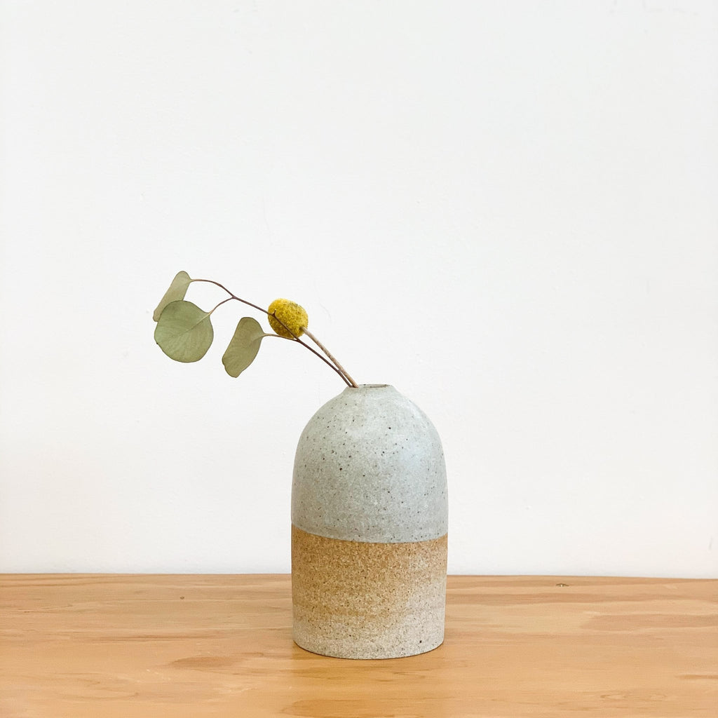 Organic, rounded bud vases by LA based ceramicist Tomoko Morisaki