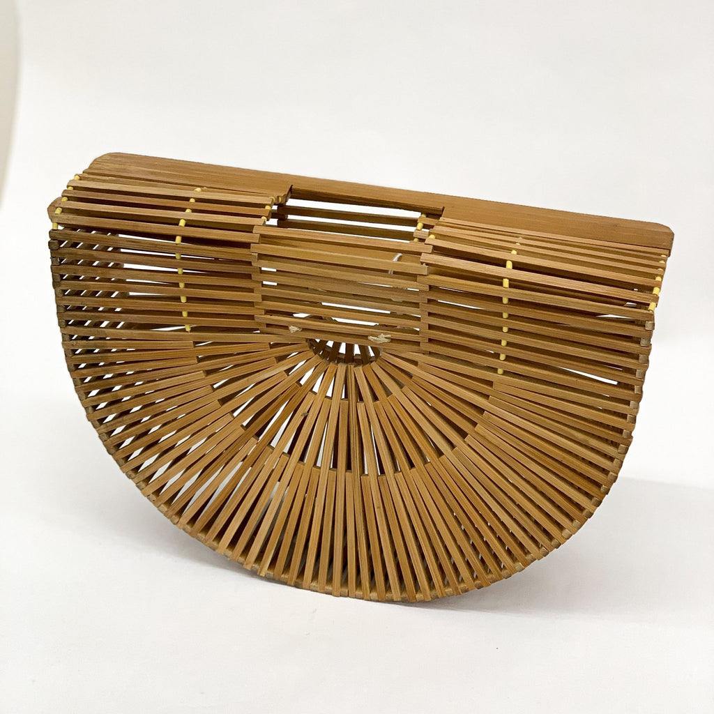 Vintage Bamboo Purse - tortoise general store