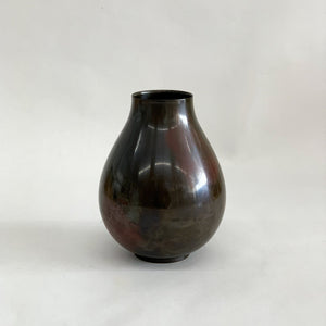 Vintage Bronze Vase with Purple Patina - tortoise general store