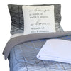 comforter, house throw pillow and soft blanket