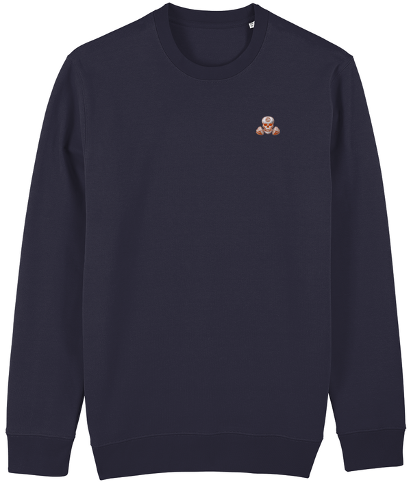 SHH Fitness - Orange Skull Sweatshirt