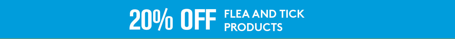 20% off flea and tick products