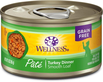 Wellness Complete Health Natural Grain Free Turkey Pate Single Wet Canned Cat Food