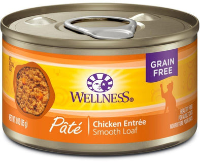 Wellness Complete Health Natural Grain Free Chicken Pate Single Wet Canned Cat Food