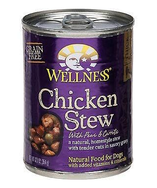 Wellness Grain Free Natural Chicken Stew with Peas and Carrots Wet Canned Dog Food