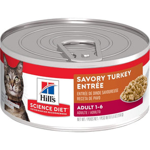 Hill's Science Diet Adult Savory Turkey Entree Canned Cat Food