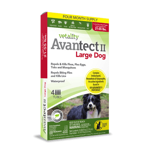 Vetality Avantect II Monthly Topical Flea and Tick Treatment for Large Dogs