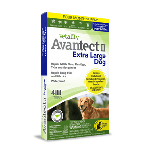 Vetality Avantect II Monthly Topical Flea and Tick Treatment for Extra Large Dogs