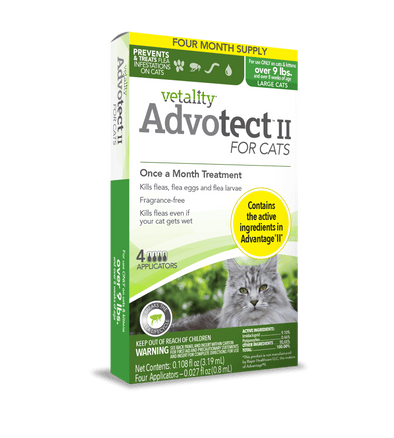Vetality Advotect II Monthly Topical Flea and Tick Treatment for Large Cats