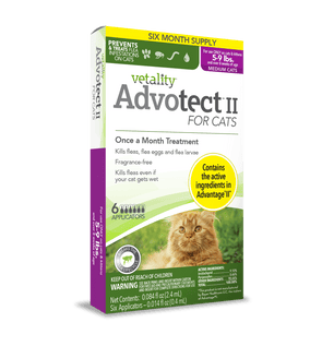 Vetality Advotect II Monthly Topical Flea and Tick Treatment for Medium Cats