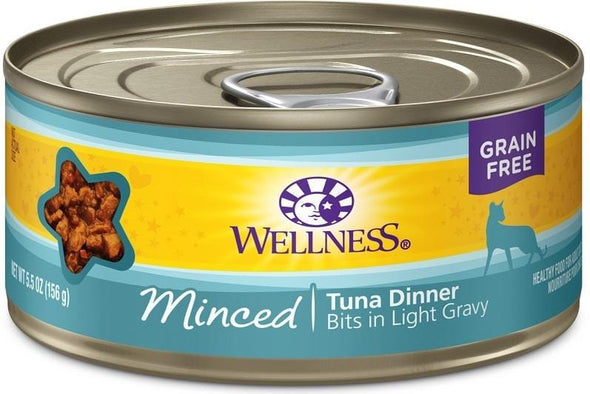 Wellness Grain Free Natural Minced Tuna Dinner Canned Cat Food