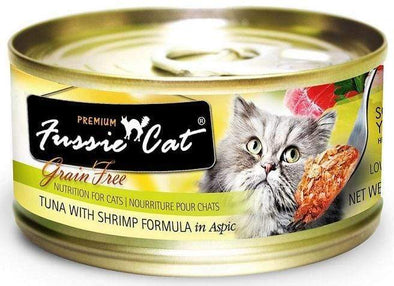 Fussie Cat Premium Tuna with Shrimp Formula in Aspic Single Canned Food