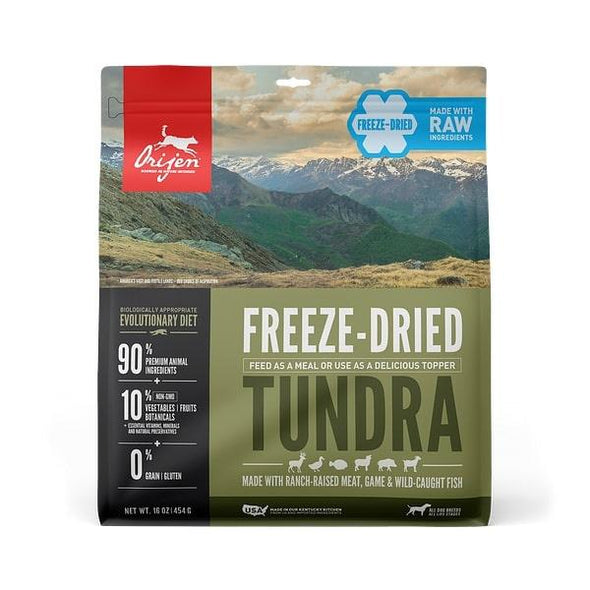 ORIJEN Grain Free Tundra Adult Freeze Dried Dog Food