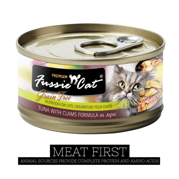 Fussie Cat Premium Tuna with Clams Formula in Aspic Canned Food