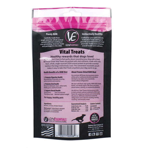 Vital Essentials Freeze Dried Chicken Breast Vital Treats for Dogs