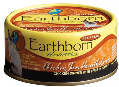 Earthborn Holistic Grain Free Chicken Jumble with Liver Canned Cat Food