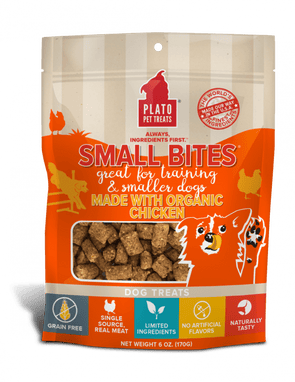 Plato Small Bites Organic Chicken Dog Treats