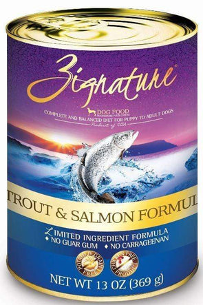 Zignature Trout and Salmon Limited Ingredient Formula Single Canned Dog Food