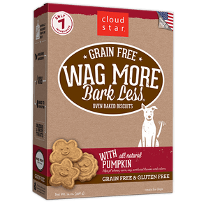 Cloud Star Wag More Bark Less Oven Baked Grain Free Pumpkin Dog Treats