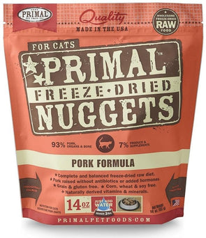 Primal Freeze-Dried Nuggets Grain Free Pork Formula Complete Diet Cat Food