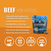 Vital Essentials Freeze Dried Beef Grain Free Mini Patties Entree for Dogs Food