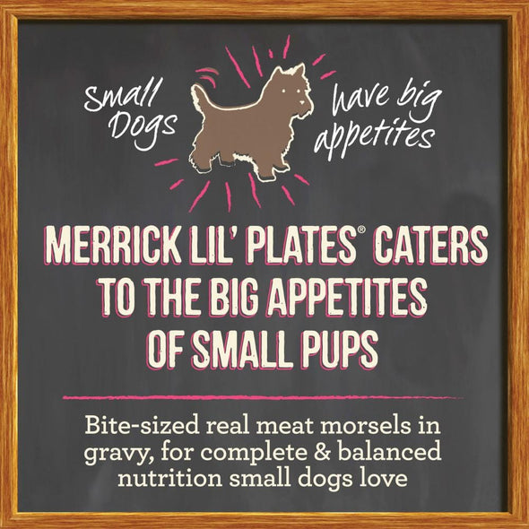 Merrick Lil' Plates Adult Small Breed Grain Free Dainty Duck Medley Canned Dog Food