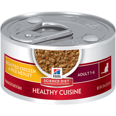 Hill's Science Diet Healthy Adult Cuisine Roasted Chicken & Rice Medley Canned Cat Food