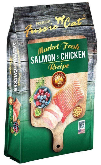 Fussie Cat Market Fresh Grain Free Salmon & Chicken Recipe Dry Cat Food Small Bag