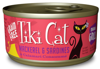 Tiki Cat Makaha Grill Grain Free Mackrel And Sardine In Calamari Consomme Canned Cat Food