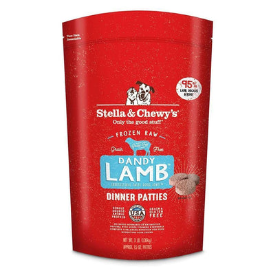 Stella & Chewy's Raw Frozen Dandy Lamb Dinner Patties for Dogs
