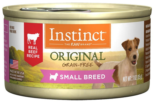 Instinct Small Breed Grain Free Real Beef Recipe Natural Canned Dog Food