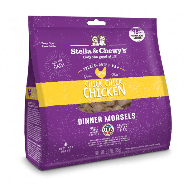 Stella & Chewy's Grain Free Chick Chick Chicken Dinner Morsels Freeze Dried Raw Cat Food