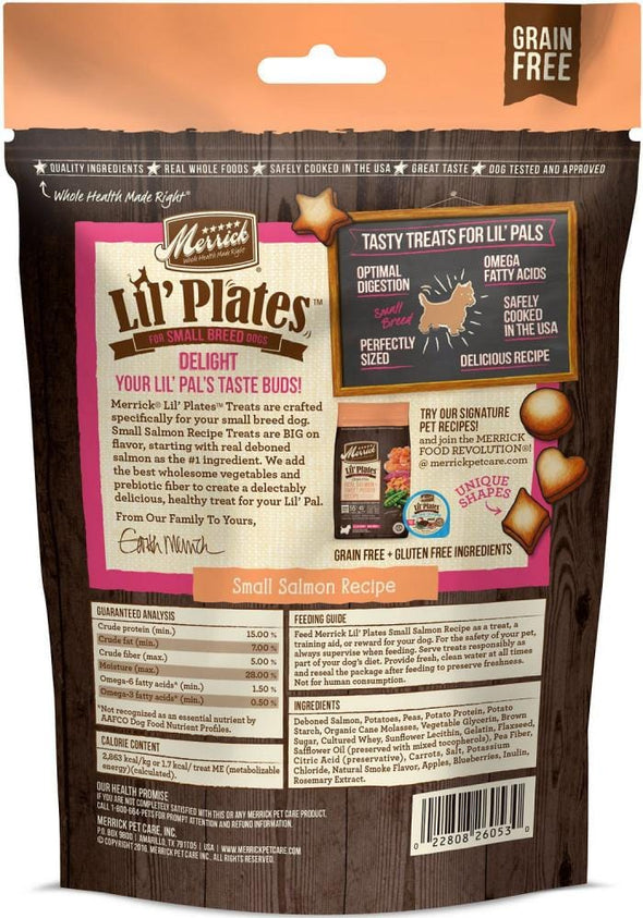 Merrick Lil' Plates Grain Free Small Salmon Dog Treats