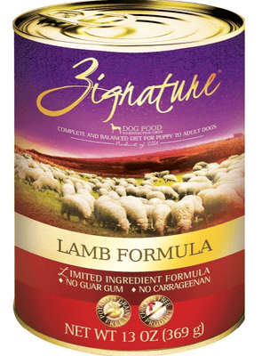 Zignature Limited Ingredient Diet Grain Free Lamb Recipe Single Canned Dog Food