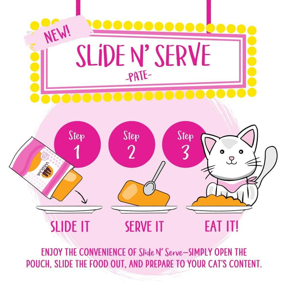Weruva Slide N' Serve Grain Free Meal of Fortune Chicken Breast Dinner with Chicken Liver Wet Cat Food Pouch